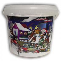 VANYA Aquarium PflegeSet im dekorativen 5-Liter-Weihnachtseimer - die ideale Geschenkidee!